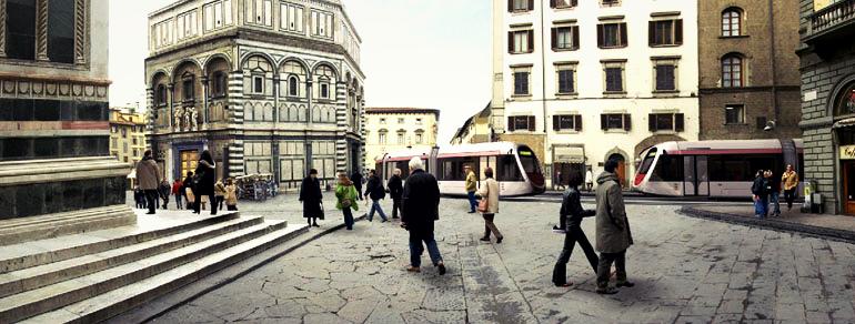 lavori della tramvia