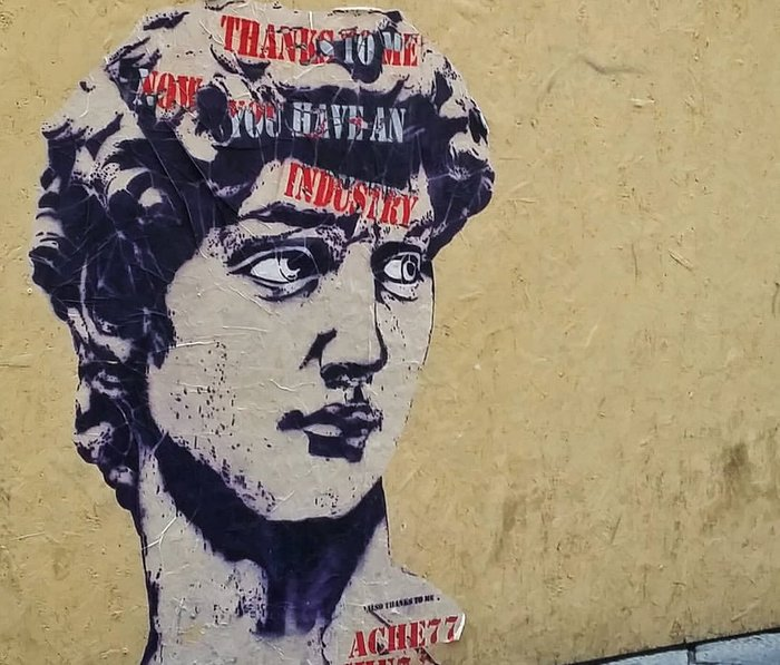 Ache77, stencil, street art